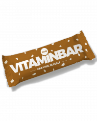 Photo of a meal replacement bar in caramel sea salt flavour