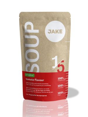 A visual of the Jake Meal Replacement Soup