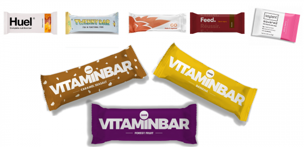 Jake Vitaminbar compared to bars from other companies